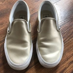 Classic Vans slip-ons gold size 7.5